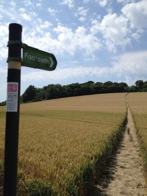 Footpath outside Faversham