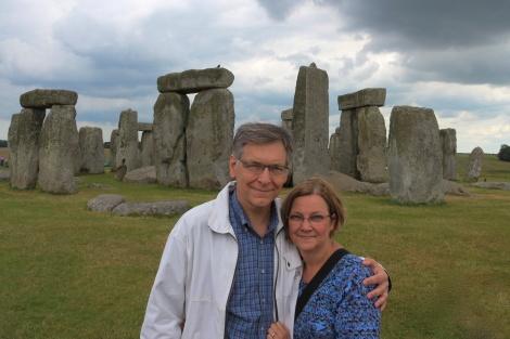 Stonehenge pic with Bambi